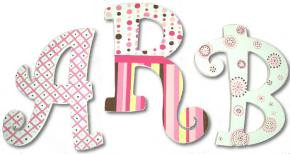 Classic Pink Monogram Wall Letters