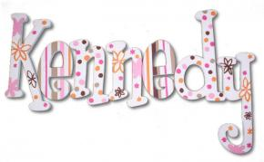 Orange and Hot Pink Craze Wall Letters