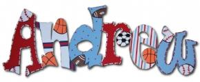 All Sports Custom Painted Wall Letters
