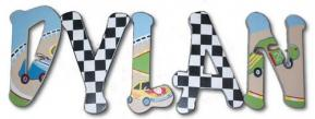 Race Car Custom Painted Name Letters