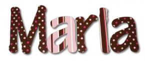 Raspberry Polka Dot Wall Letters
