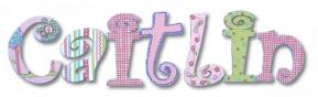 Ric Rac Floral Custom Painted Wall Letters