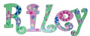 Blooming Garden Custom Painted Wall Letters