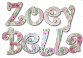 Shabby Chic Hand Painted Wall Letters