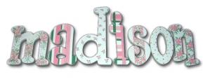 Rose Bouquest Hand Painted Wall Letters