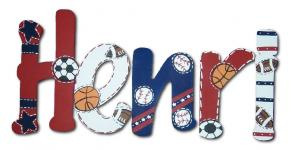 Sports Fanatic Hand Painted Wall Letters