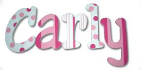 Strawberry Truffles Hand Painted Wall Letters Thumbnail