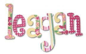 Leagan's Tearose Garden Hand Painted Wall Letters