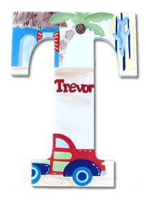 Beach Hut Hand Painted Wall Letters