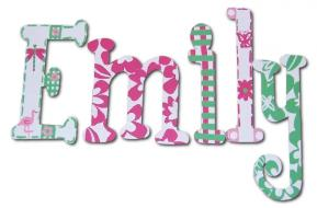 Tropical Paradise Hand Painted Wall Letters