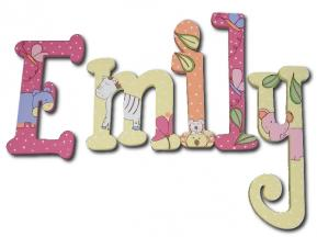 Tropical Punch Dot Jungle Wall Letters (Emily) Thumbnail
