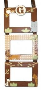Cocoa Jungle Hanging Picture Frame on Brown