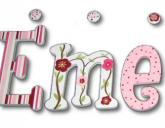 Cherry Blossoms & Dragonflies Kids Wall Letters