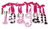 Girls Name Letters in Hot Pink, Black & White