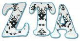 Black and White Damask Custom Letters