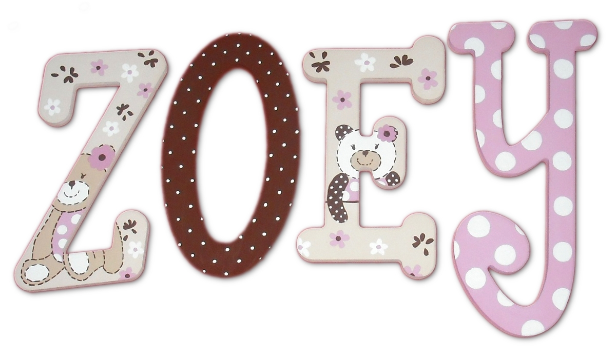 Teddy Bear Custom Wood Letters