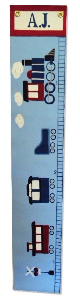 Custom Painted Wooden Growth Chart Thumbnail 5