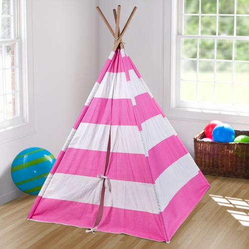 Pink Striped Kids Teepee Thumbnail